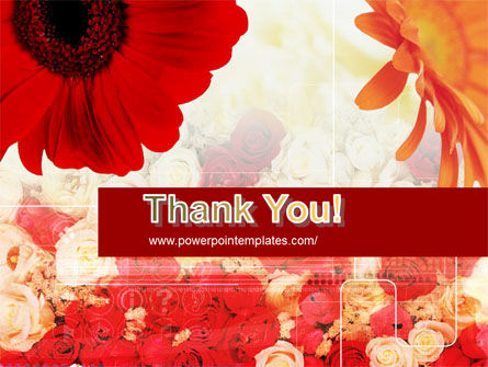 Red Flowers PowerPoint Template Slide 20