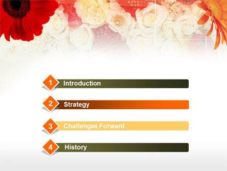 Red Flowers PowerPoint Template Slide 3