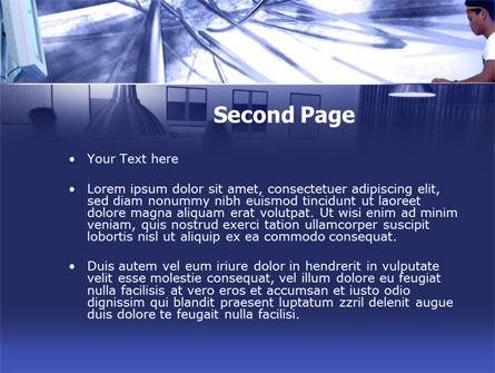 Telecommunication Center PowerPoint Template Slide 2