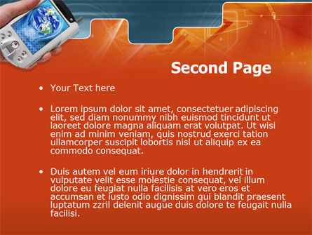 Portable Communicator PowerPoint Template, Slide 2, 00285, Technology and Science — PoweredTemplate.com