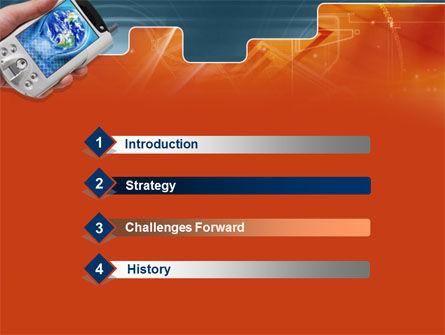 Portable Communicator PowerPoint Template Slide 3