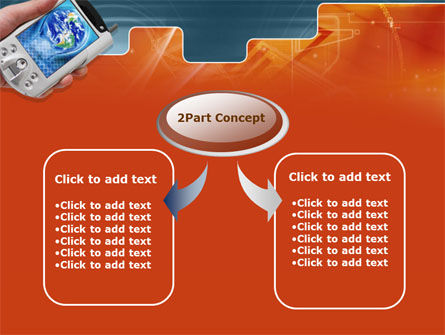 Portable Communicator PowerPoint Template, Slide 4, 00285, Technology and Science — PoweredTemplate.com