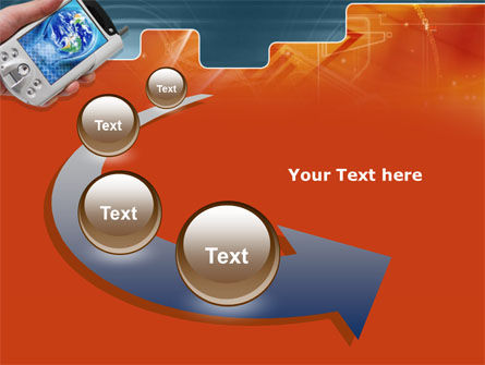 Portable Communicator PowerPoint Template Slide 6