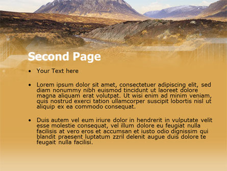 Romantic Mountain View PowerPoint Template Slide 2