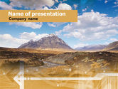 Nature & Environment: Romantic Mountain View PowerPoint Template #00287