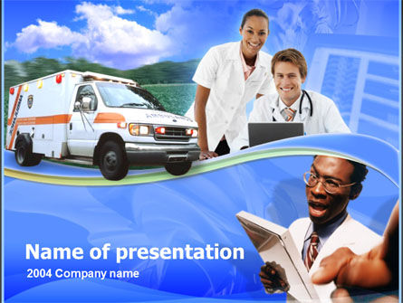 Medical: Templat PowerPoint Bantuan Darurat #00288