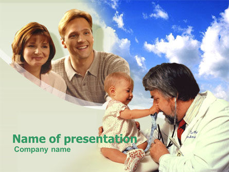 Medical: Pediatrics PowerPoint Template #00289