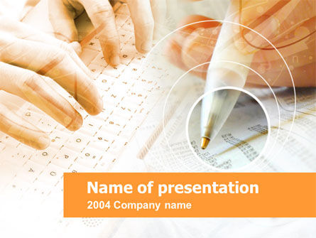 Account Management PowerPoint Template, 00291, Technology and Science — PoweredTemplate.com