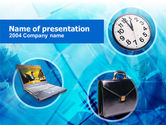 Business Concepts: Time Management PowerPoint Template #00292