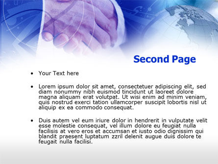 Deal PowerPoint Template, Slide 2, 00293, Global — PoweredTemplate.com