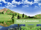 Nature & Environment: Alpine Meadows PowerPoint Template #00294