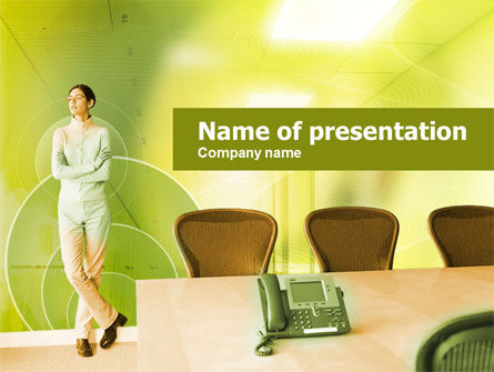 Business Concepts: Company Conference Room PowerPoint Template #00298