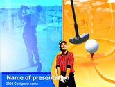 Sports: Templat PowerPoint Gratis Pemain Golf #00299