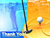 Golf Player Free PowerPoint Template#20