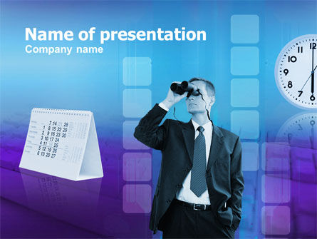 Looking Forward PowerPoint Template, 00300, Business Concepts — PoweredTemplate.com