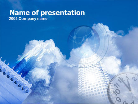 Timing PowerPoint Template, 00301, Construction — PoweredTemplate.com
