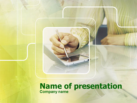 Portative Communicator PowerPoint Template, 00303, Business — PoweredTemplate.com