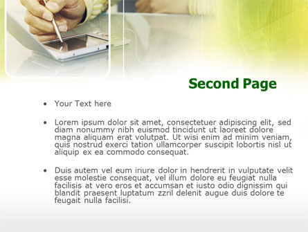 Portative Communicator PowerPoint Template, Slide 2, 00303, Business — PoweredTemplate.com