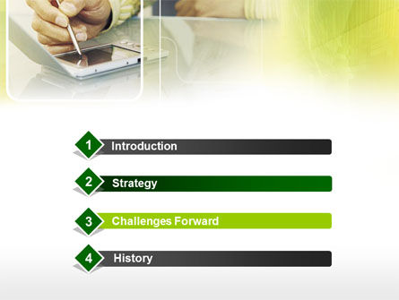Portative Communicator PowerPoint Template, Slide 3, 00303, Business — PoweredTemplate.com