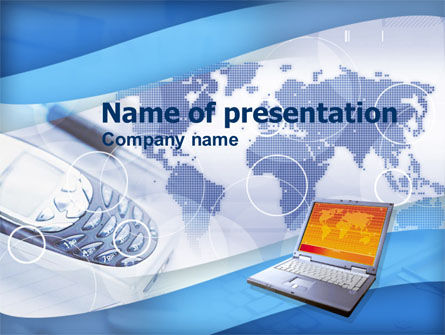 Mobile Communication Devices PowerPoint Template