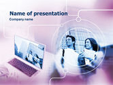 Careers/Industry: Computer World PowerPoint Template #00305