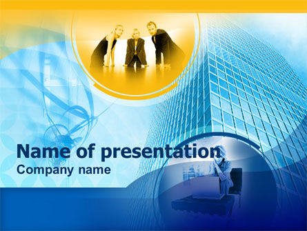 Office Staff PowerPoint Template, 00306, Consulting — PoweredTemplate.com