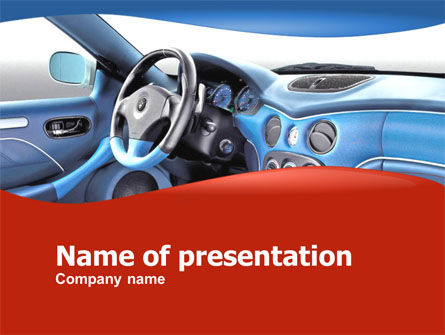 Cars and Transportation: Modelo do PowerPoint - design do carro #00307