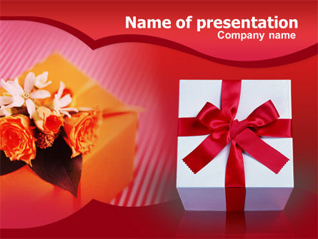 Holiday/Special Occasion: Present Box PowerPoint Template #00308
