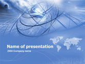 Global: Plantilla de PowerPoint - enlaces de telecomunicaciones #00309