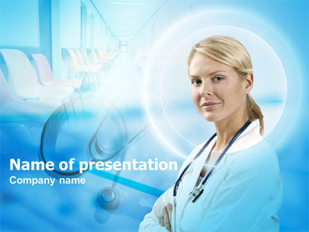 Head Nurse PowerPoint Template, 00311, Medical — PoweredTemplate.com
