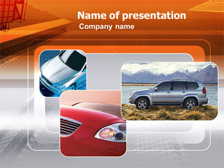 Cars and Transportation: Motorvoertuig PowerPoint Template #00312