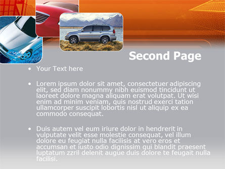 Motor Vehicle PowerPoint Template, Slide 2, 00312, Cars and Transportation — PoweredTemplate.com