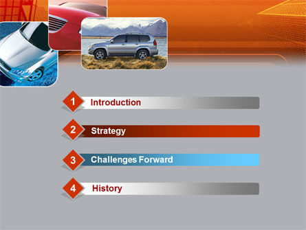 Motor Vehicle PowerPoint Template, Slide 3, 00312, Cars and Transportation — PoweredTemplate.com