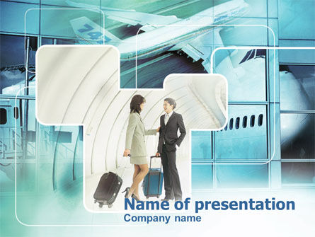 Cars and Transportation: Business lady Trip PowerPoint Template #00313