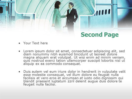Business lady Trip PowerPoint Template Slide 2