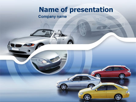 Cars and Transportation: Moderne Auto's PowerPoint Template #00316