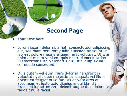 Golfer PowerPoint Template, Slide 2, 00317, Sports — PoweredTemplate.com
