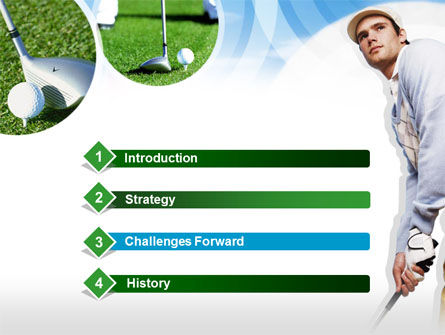 Golfer PowerPoint Template, Slide 3, 00317, Sports — PoweredTemplate.com