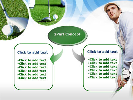 Golfer PowerPoint Template, Slide 4, 00317, Sports — PoweredTemplate.com