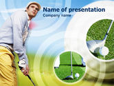 Sports: Golfer PowerPoint Template #00317
