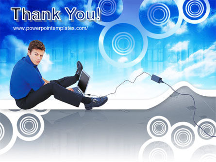 Student With Laptop Free PowerPoint Template Slide 20