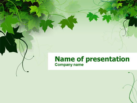 Grape Leaves PowerPoint Template