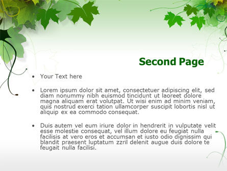 Grape Leaves PowerPoint Template Slide 2