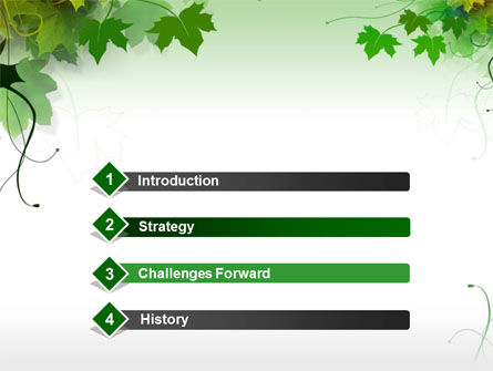 Grape Leaves PowerPoint Template Slide 3