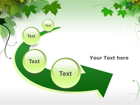 Grape Leaves PowerPoint Template Slide 6