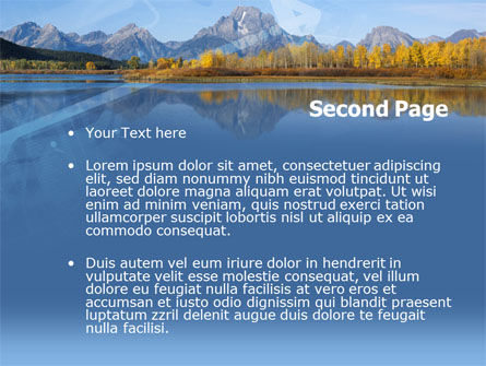Autumn In A Mountain Land PowerPoint Template Slide 2