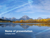 Nature & Environment: Autumn In A Mountain Land PowerPoint Template #00323