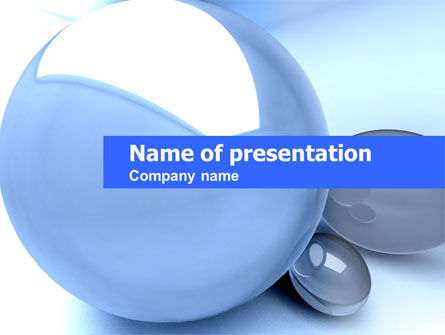 Abstract/Textures: Abstract Blue Sphere PowerPoint Template #00325