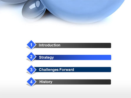 Abstract Blue Sphere PowerPoint Template Slide 3