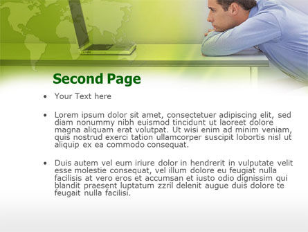 Man And Laptop PowerPoint Template, Slide 2, 00329, Global — PoweredTemplate.com